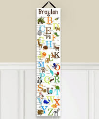Toad And Lily Growth Chart Toad And Lily Alphabet Personalized Growth Chart
