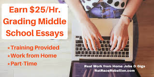 earn hr grading middle school essays training provided  earn 25 hr grading middle school essays training provided