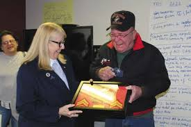 vietnam veteran receives diploma medals earned news sports  vietnam war veteran theodore darrow right is awarded his high school diploma and his