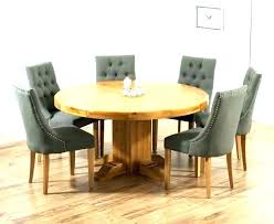 second hand dining table and 6 chairs kitchen round with used solid oak