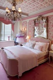 new york pink powder room with traditional wall decals kids and bedroom chandelier