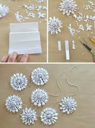 paper snowflakes 3d handmade holiday paper snowflake garland 3d paper snowflakes