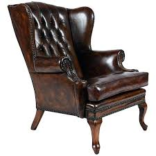 tufted wingback chair tufted leather chair regency style tufted leather chair for at inside decor