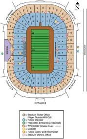 Notre Dame Stadium Detailed Seating Chart Tickets 2 Notre Dame Vs Navy Tickets North Lower Level End