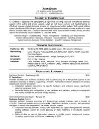 Technology Resume Template Non Technical Resume Format Technology