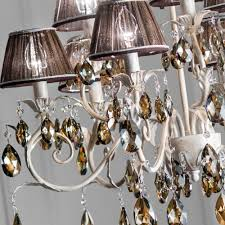 romantic bronze swarovski crystal chandelier