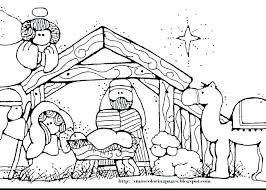 Christmas Nativity Scene Coloring Pages Revelation Pages Manger