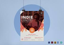 Concert Flyer Template For Word Indie Concert Flyer Design Template In Psd Word Publisher