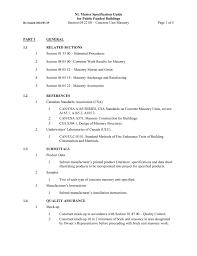 Csa Concrete Mix Design Section 04 22 00 Concrete Unit Masonry
