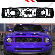 2006 Mustang Halo Lights Details About For 05 09 Ford Mustang 4 0l V6 Front Mesh Grill Dual Smoke Lens Halo Fog Lights