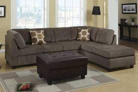 Living Room Furniture Los Angeles Poundex Radford F7263 Gray Microfiber Sectional Sofa In Los Angeles Ca