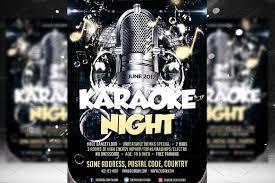 Karaoke Night Flyer Template Karaoke Night Flyer Template Flyer Templates Creative Market 9