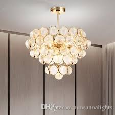 led modern chandeliers lights fixture american gold chandelier home indoor living room glass hanging lamp 3 white light color dimmable rustic
