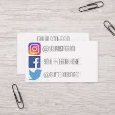 Facebook Logo For Business Card Facebook And Instagram For Business Card Logo Logodix