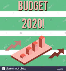 Writing Note Showing Budget 2020 Business Concept For