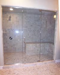 frameless panel door panel half inch glass steam unit