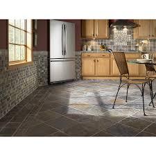 Slate Wall Tiles Kitchen Shop Anatolia Tile Multi Color Tumbled Slate Natural Stone Mosaic