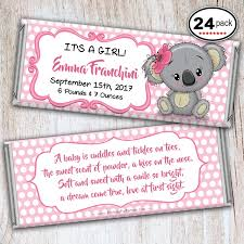 Printed Birth Announcement Printed Personalized Hersheys Candy Bar Wrappers Baby