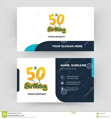 Birthday Business Cards 50th Birthday Business Card Design Template Visiting For Your