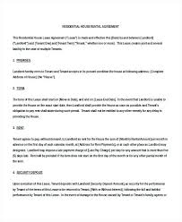 Rental Property Contract Template Rental Property Lease Agreement