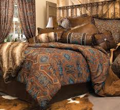 rustic comforter sets king pertaining to bedding size turquoise mesa bed set black forest decor prepare