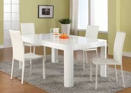 White Modern Dining Table - Modern white dining room sets