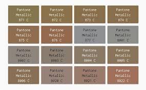 Pantone Metallic In 2019 Pantone Pantone Color Metallic