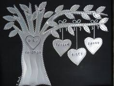 ten year anniversary gift 10 year anniversary 10 year wedding gift family tree personalized sted names and wedding date aluminum