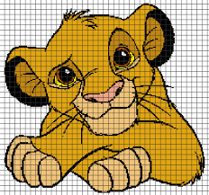 The Lion King Little Simba Chart Graph And Row By Row Written Instructions
