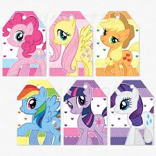 my little pony birthday party thank you favor tags diy party image