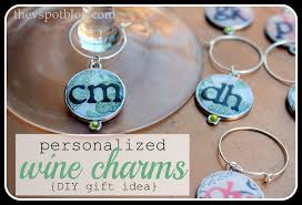 personalized bunco wine charms easy diy