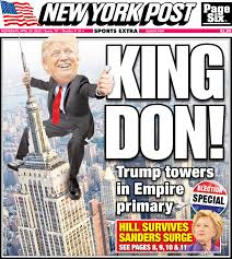 personification samples lighting trump hillary cruise to new york primary wins new york post