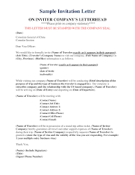 Example Of Company Formal Invitation Letter As Peruantitaurino Org