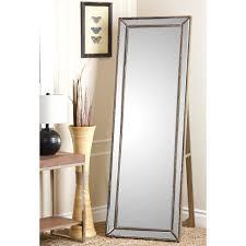 Abbyson Cosmo Nailhead Trim Floor Mirror - Silver - Free Shipping Today -  Overstock.com - 16157143