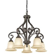 monroe five light chandelier olde bronze