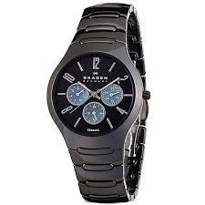 skagen slagen black dial multifunction black ceramic men s watch skagen slagen black dial multifunction black ceramic men s watch 817sxbc1