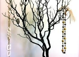 30 black painted tree jewelry holder jewelry