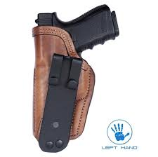 front line glock 17 holster iwb brown leather