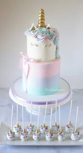 Pastel Watercolors Unicorn Cake And Unicorn Cake Pops Rose Bakes