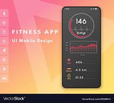 Fitness Cardio App Heart Rate Monitor Ui Design