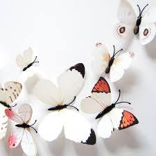 3d Butterfly Wall Decor Popular 3d Butterfly Wall Decor White Buy Cheap 3d Butterfly Wall