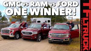 Ford Truck Comparison Chart 2019 Ford Vs Gmc Vs Ram Here Is The Most Efficient Towing Half Ton Truck In America