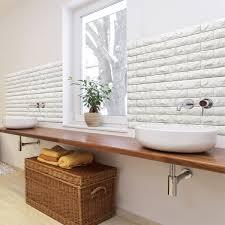 a06501 l stick 3d wall panels foam block brick design 10 sheets 48 4 sq