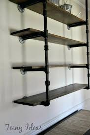 diy pipe shelving industrial shelves building steel freestanding