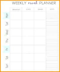 Bi Weekly Meal Planner Template Bi Weekly Planner Page X Instant Download Calendar Pdf 2018