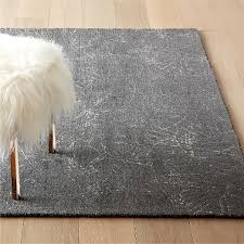 sketch grey wool pile rug