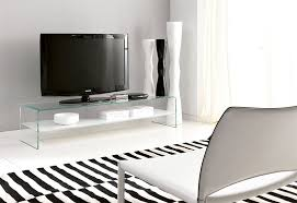 unico contemporary glass bridge tv unit in various finishes thumbnail