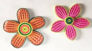 How To Make A Beautiful Flower With Paper How To Make Beautiful Quilling Flower Using Combing Technique Diy