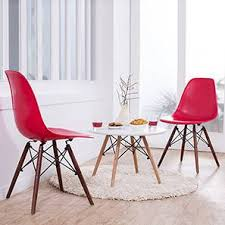 dsw side chair replica india. dsw dining chair replicas - set of 2 (red) dsw side replica india