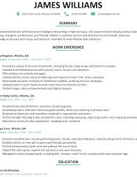 Esthetician Resume Sample Resume Sample Resume Examples Images